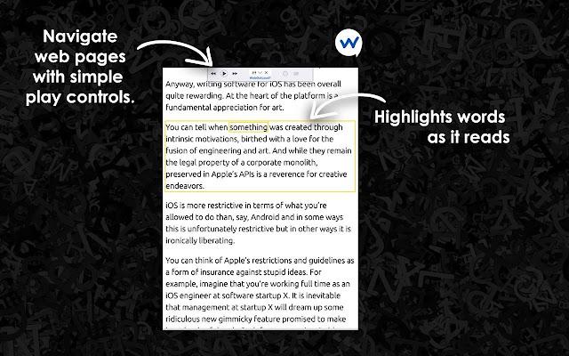 WebOutLoud - Text-to-Speech Web Reader