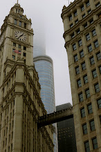 Photo: Wrigley Tower and Trump Tower