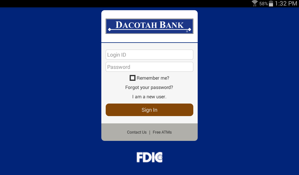 Dacotah Bank- screenshot