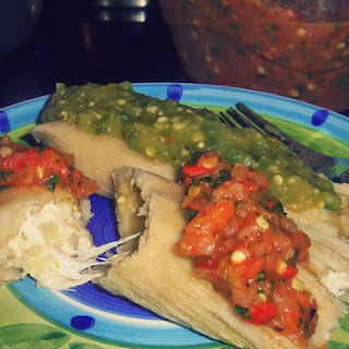 Green Chile and Cheese Tamales
