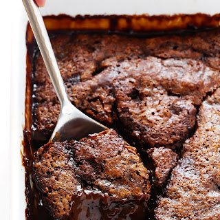 Chocolate Avocado Hot Fudge Cake.