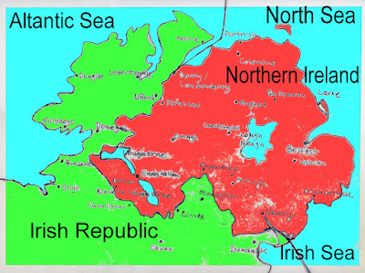 Map Of Ireland With County Borders.Crossing The Irish Border Kenny Allen S Website