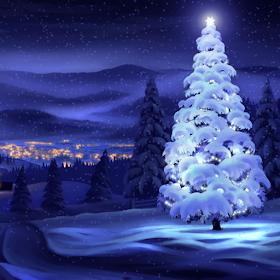 Christmas Snowing Wallpaper