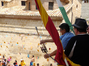 Photo: A las 13h el chupinazo anunciaba el inicio de las fiestas patronales 2011.
