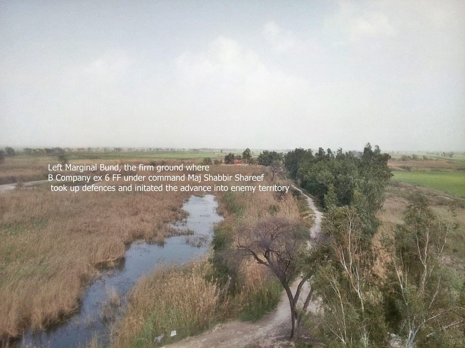 Left Marginal Bund at Sulemanki HW