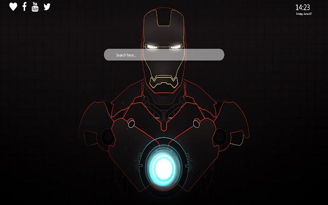 Iron Man Wallpaper Theme Google Chrome