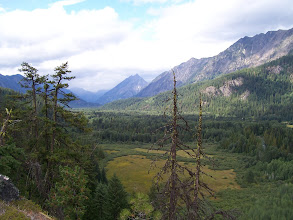 Photo: Looking up the valley