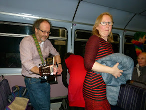 Photo: Dogwood Rose gathering on the return train to Sheffield.