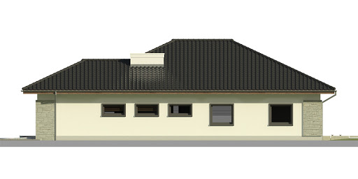 Dom przy Pastelowej 3 - Elewacja prawa