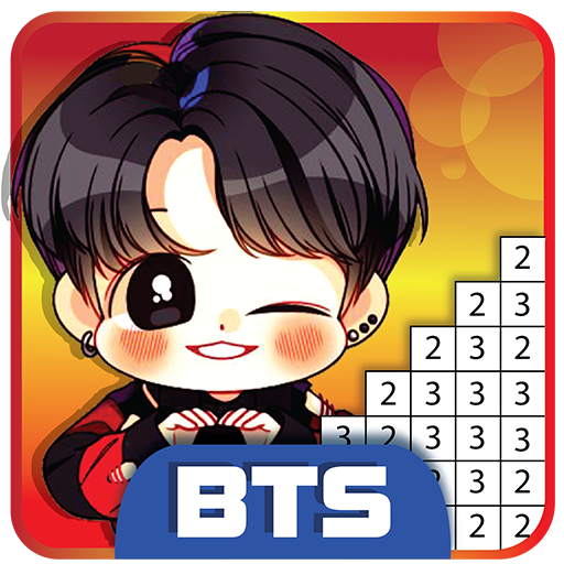 Bts Pixel Art - Paint By Number Coloring Books