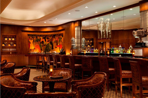 Step back in time with the signature cocktails, stately glamor and relaxed ambiance offered by the historic Sazerac Bar in the Roosevelt Hotel in New Orleans.