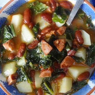 Portuguese Kale Soup   Sopa de Couve com Chourico