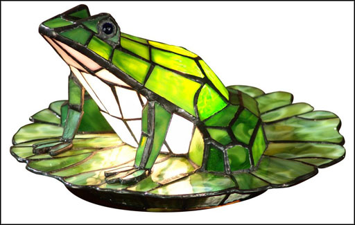 green frog dale accent tiffany lamps