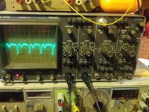 Photo: Oscilloscope settings.