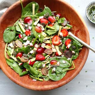 Grape Spinach Zucchini Harvest Salad.