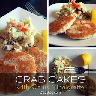Crab Cakes with Citrus Vinaigrette Dressing