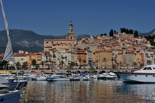France-Menton-harbor.jpg - Stroll through the streets of Menton, France, to the scenic harbor.