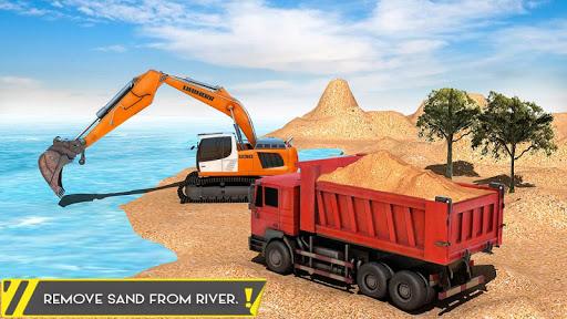 Sand Excavator Offroad Crane Transporter android2mod screenshots 4