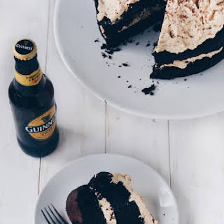 "Vegan Guinness Chocolate Cake with ""Baileys"" Buttercream Frosting."
