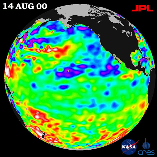 TOPEX/El Niño Watch - Los Niños may be Gone, But Pacific Pattern Remains August 14, 2000