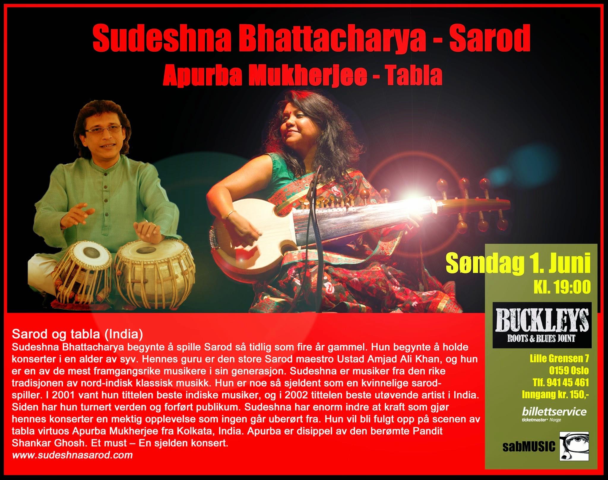 Photo: Sudeshna Bhattacharya - Sarod - Buckleys, Oslo 1. June 2014 - sabART