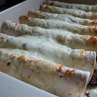 Shredded Beef and Chile Enchiladas