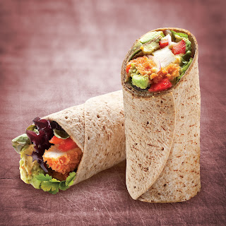 Southwest Chicken Flatbread Wrap