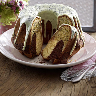Marbled Bundt Cake with Poppy Seeds