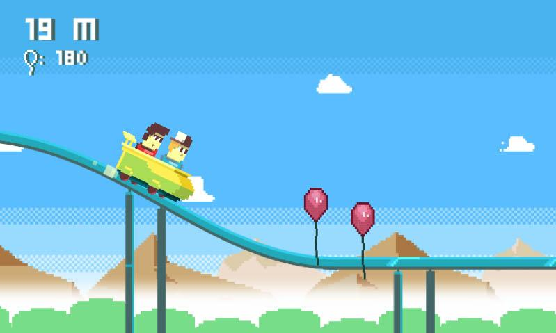 Pix Fun Rails (Rollercoaster)- screenshot