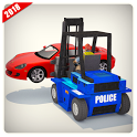 US City Police Parking Forklift Car Simulator icon