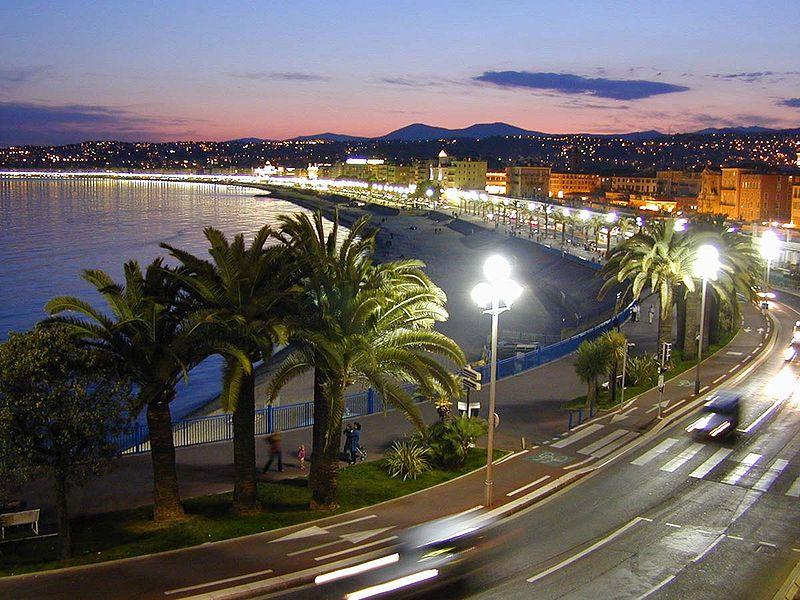 Лазурное побережье Франции, ночная Ривьера