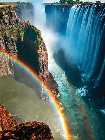 Водопад Виктория.Радуга