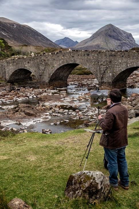 Szkocja, Sligachan Old Bridge, atrakcje Wyspy Skye