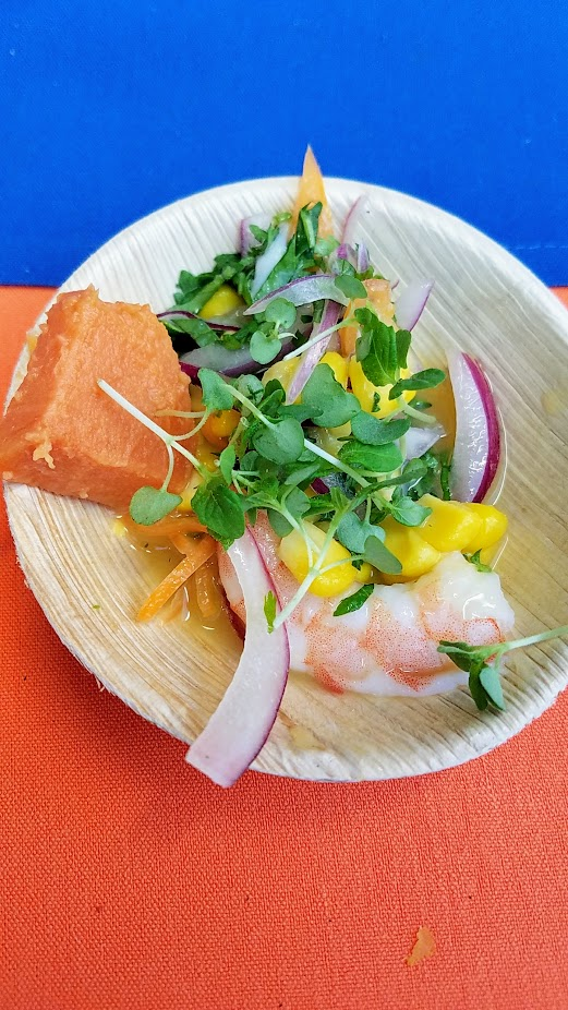 Recap of Feast Night Market 2017: Dustin Koerner of Andina with Cebiches Mango Verde y Langostinos