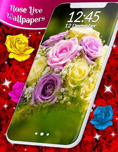 Red Rose ud83cudf39 Diamond Shine Live Wallpaper screenshots 7