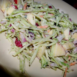 Crunchy Broccoli and Apple Salad.