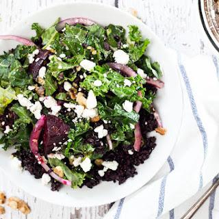 Kale, Roasted Beet and Black Rice Salad.