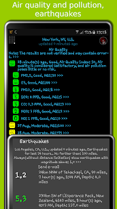 eWeather HD – clima, calidad del aire, terremotos 4
