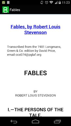 Fables by Robert Stevenson
