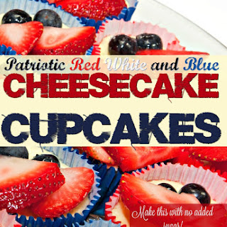 4th of July Cupcakes- Cheesecake