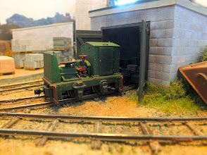 Photo: 002 A very nice 7mm scale 14 mm gauge Orenstein & Koppel loco built from a Nonneminstre kit on Michael Campbell's Thakeham Tiles .