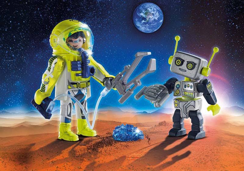 Contenido real de Playmobil® 9492 duo Pack Astronauta y Robot