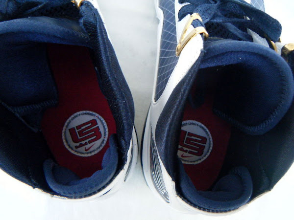 Nike Air Max LeBron VII 7 8211 WhiteNavyGold Sample Actual Photos