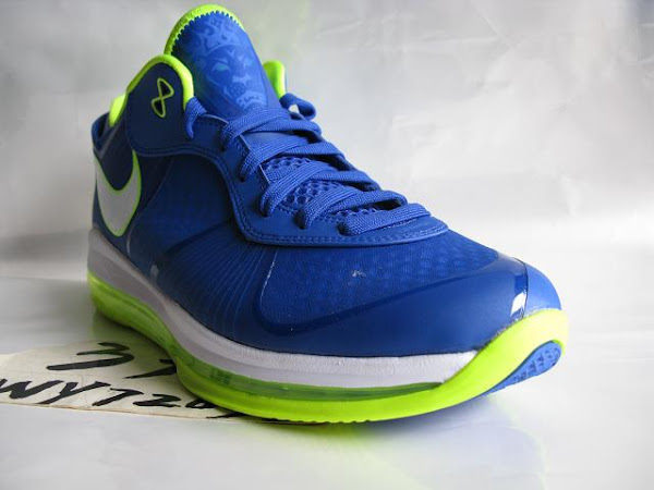 Nike LeBron 8 V2 Low Treasure BlueVolt 8220strikeSpritestrike8221 New Pics