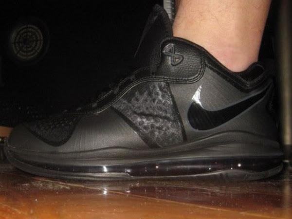 First Look Nike Air Max LeBron 8 V2 Low Triple Black Colorway