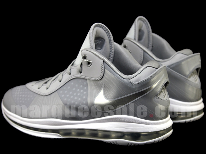 36ac78335623 Fresh Nike LeBron 8 V2 Low in New Metallic Silver Style ...