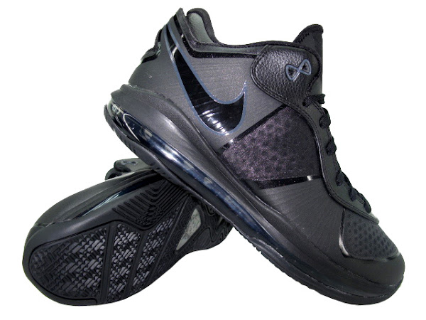 Nike LeBron 8 V2 8211 Black on Black 456849001 8211 Detailed Look