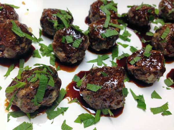 Lamb Meatballs With Pomegranate Glaze Recipe