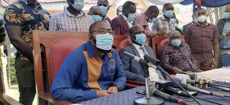 KMPDU officials during a press conference