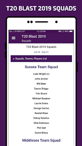T20 Blast 2019 All Team Squad